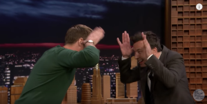 Alexander Skarsgård teaches Jimmy Fallon how to do the traditional 'little frogs' dance