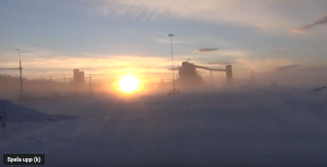 Watch the winter solstice and polar nights over northern Sweden