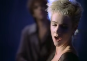 "Roxette performing ""It Must Have Been Love"" in their official music video."